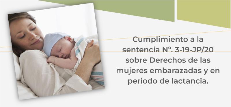 Derechos de las mujeres embarazadas y en periodo de lactancia