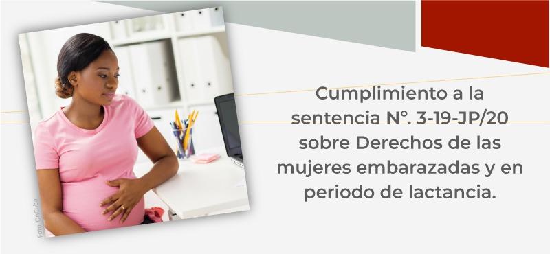 Derechos de las mujeres embarazadas y en período de lactancia