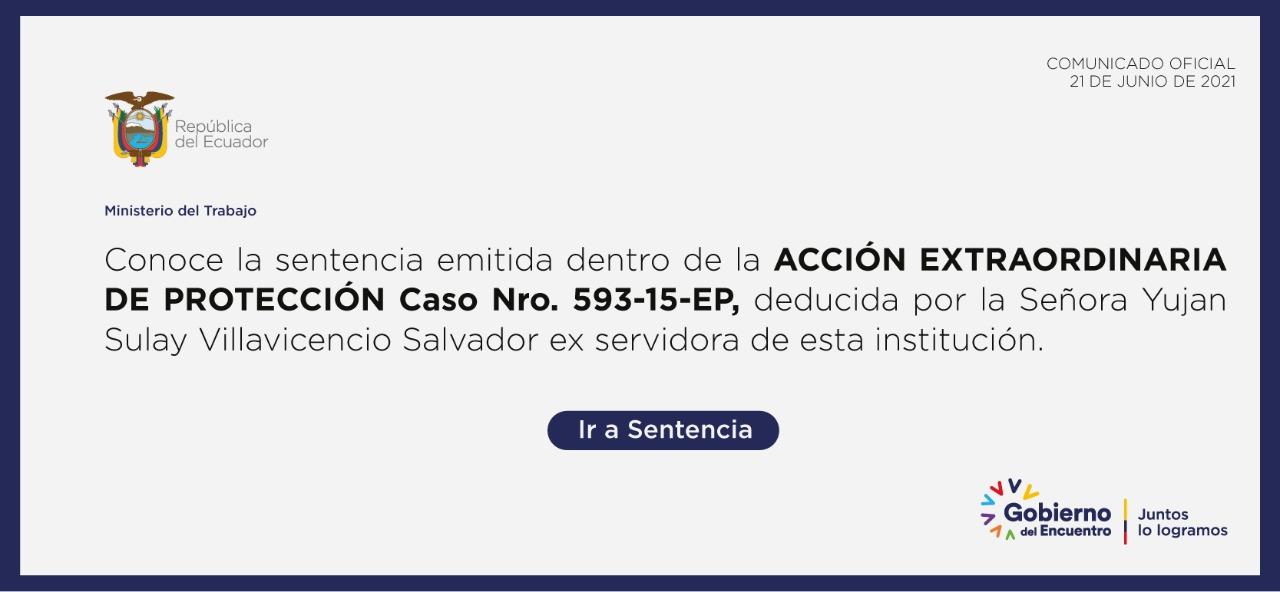 Cumplimiento de la Sentencia No. 593-15-EP/21